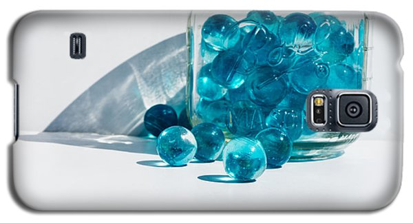 Blue Marbles Galaxy S5 Case by Mary Hone