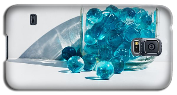 Galaxy S5 Case featuring the photograph Blue Marbles by Mary Hone