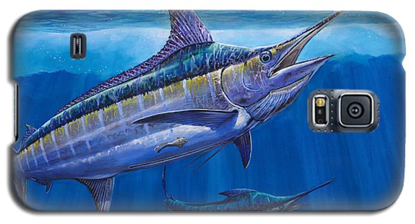Blue Marlin Bite Off001 Galaxy S5 Case by Carey Chen