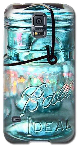 Galaxy S5 Case featuring the photograph Blue Mason Jars by Elizabeth Budd
