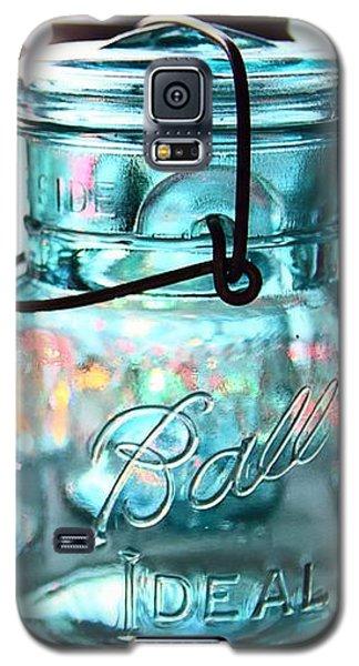 Blue Mason Jars Galaxy S5 Case by Elizabeth Budd