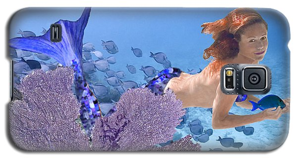 Blue Mermaid Galaxy S5 Case