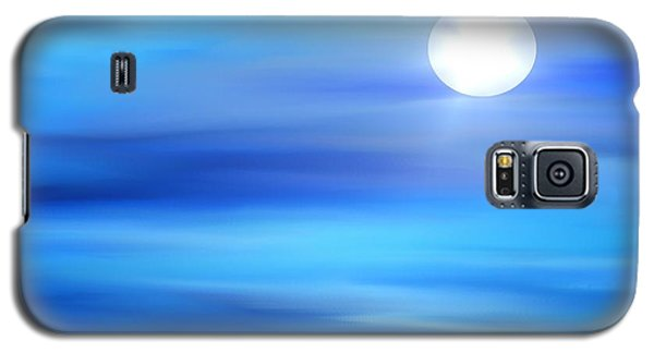 Galaxy S5 Case featuring the painting Super Moon by Yul Olaivar