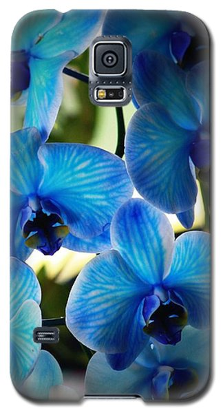 Orchid Galaxy S5 Case - Blue Monday by Mandy Shupp