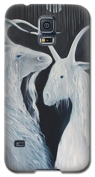 Blue Moon Goats Galaxy S5 Case