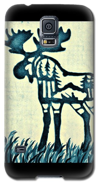 Blue Moose Galaxy S5 Case by Larry Campbell