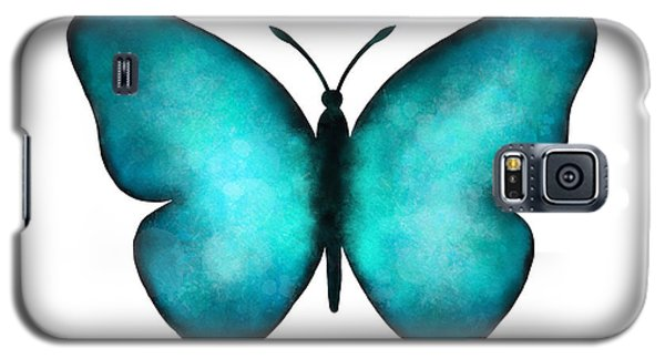 Galaxy S5 Case featuring the painting Blue Morpho Butterfly by Laura Bell