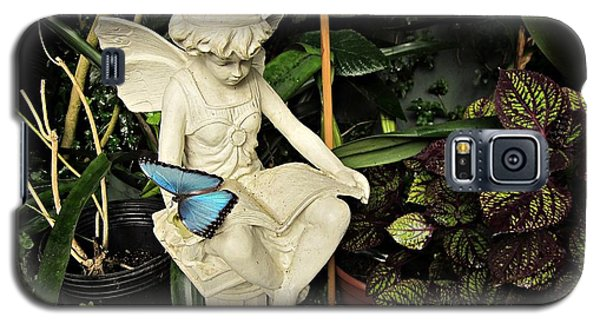 Blue Morpho On Statue Galaxy S5 Case