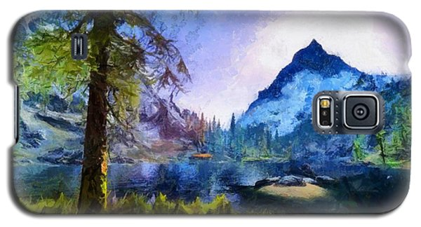 Blue Mountain Of Skyrim Galaxy S5 Case by Kai Saarto