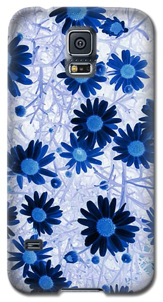 Galaxy S5 Case featuring the digital art Blue Mystical Daisies  by Sandra Foster