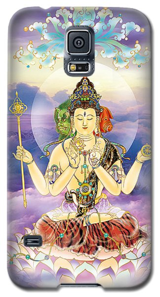 Galaxy S5 Case featuring the photograph Blue-neck Kuan Yin by Lanjee Chee