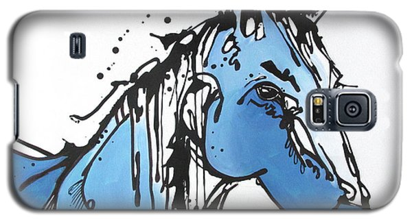 Galaxy S5 Case featuring the painting Blue by Nicole Gaitan