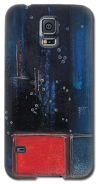 Galaxy S5 Case featuring the painting Blue by Nicole Nadeau