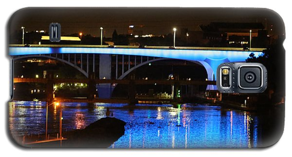 Blue Night In Minneapolis Galaxy S5 Case