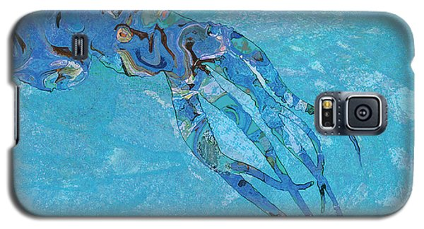 Galaxy S5 Case featuring the painting Blue Octopus by David Klaboe