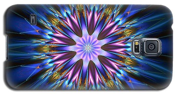 Blue Oomph Fractal Mandala Galaxy S5 Case