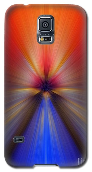 Blue Orange Blur Galaxy S5 Case by Trena Mara