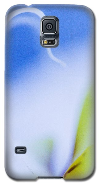 Galaxy S5 Case featuring the photograph Blue Orchid Abstract by Bradley R Youngberg