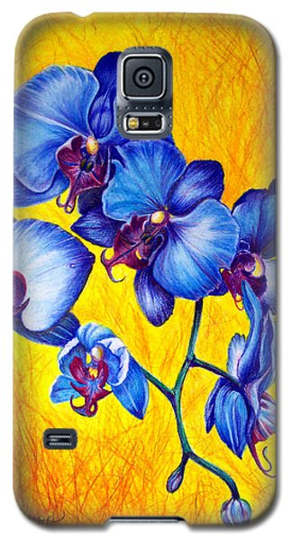 Blue Orchids 1 Galaxy S5 Case