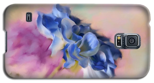 Blue Painted Flower Galaxy S5 Case