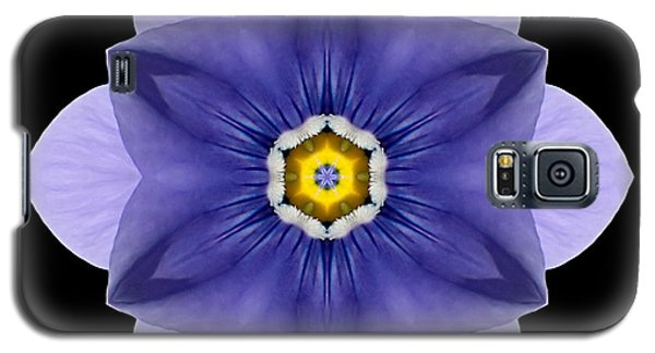 Blue Pansy I Flower Mandala Galaxy S5 Case
