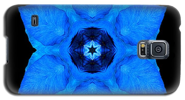 Blue Pansy II Flower Mandala Galaxy S5 Case