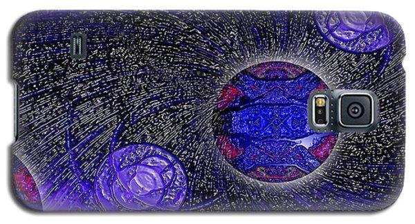Galaxy S5 Case featuring the digital art Blue Pearl Planet Beta by Hanza Turgul