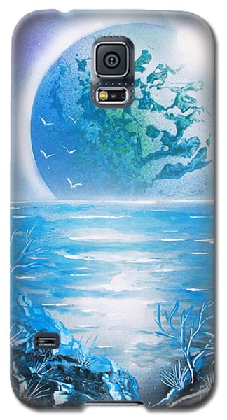 Galaxy S5 Case featuring the painting Blue Moon by Greg Moores