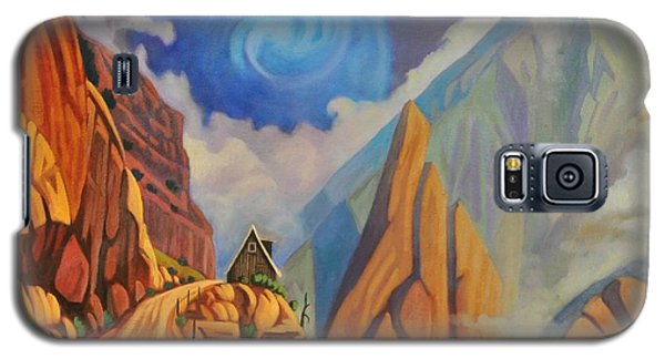 Galaxy S5 Case featuring the painting Cliff House by Art James West