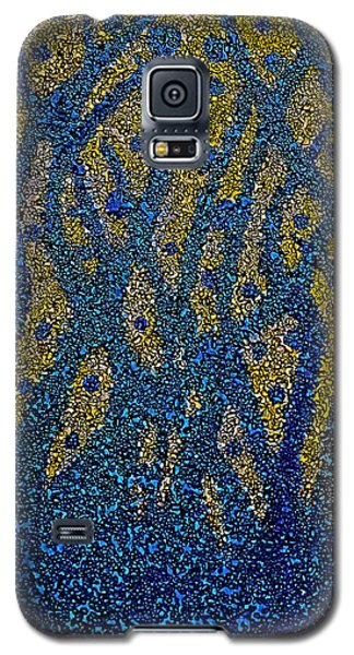 Galaxy S5 Case featuring the painting Blue Plant by Shabnam Nassir