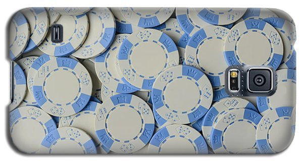 Blue Poker Chip Background Galaxy S5 Case