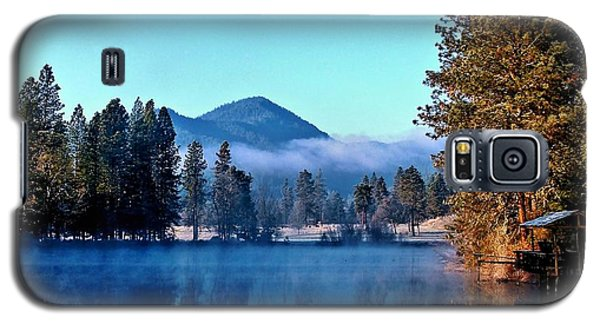 Galaxy S5 Case featuring the photograph Blue Pond Sunrise by Julia Hassett