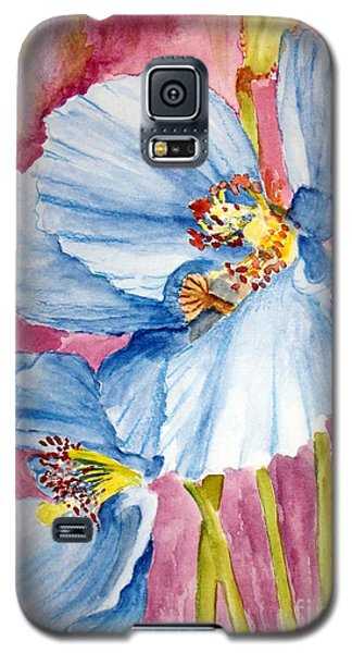 Blue Poppy Galaxy S5 Case by Carol Grimes