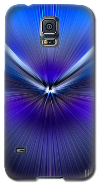 Blue Purple Zoom Galaxy S5 Case by Trena Mara