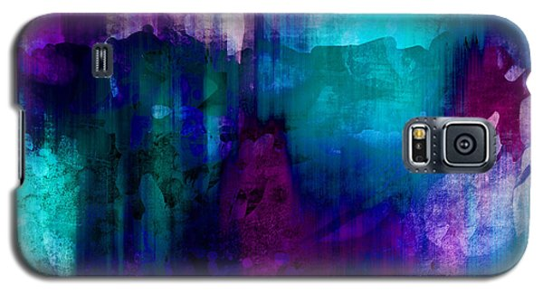 Blue Rain  Abstract Art   Galaxy S5 Case by Ann Powell
