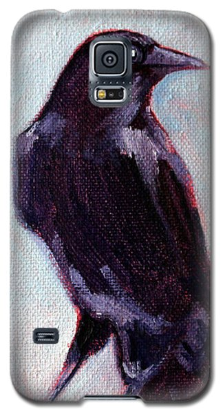 Raven Galaxy S5 Case - Blue Raven by Nancy Merkle