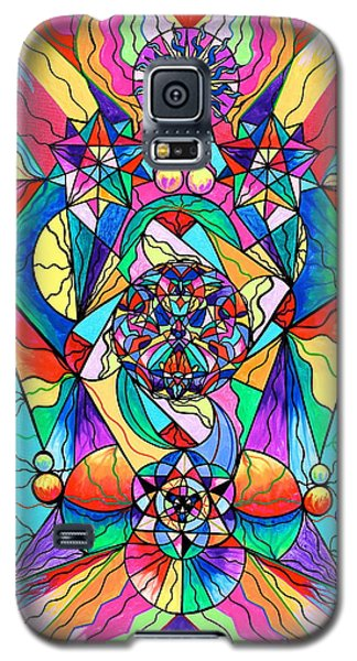 Blue Ray Transcendence Grid Galaxy S5 Case