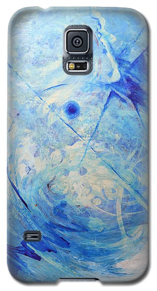 Galaxy S5 Case featuring the painting Blue Reflections by John Fish