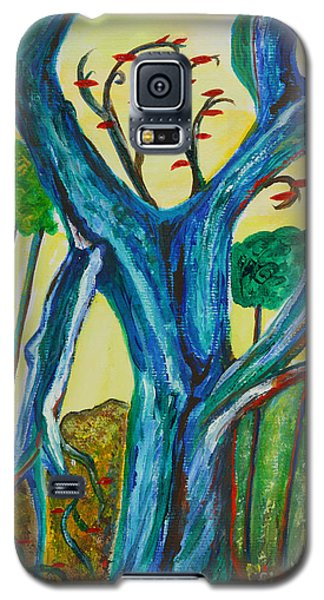 Blue Remembered Tree Galaxy S5 Case