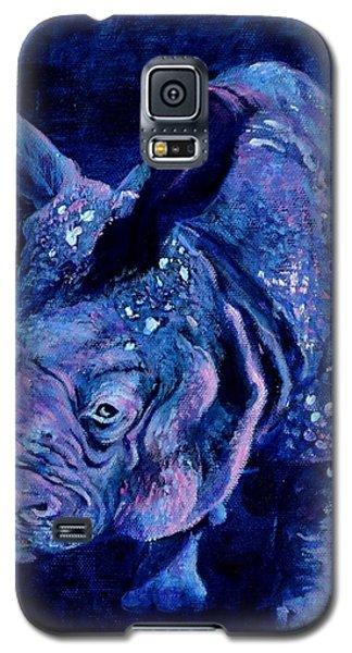 Indian Rhino - Blue Galaxy S5 Case