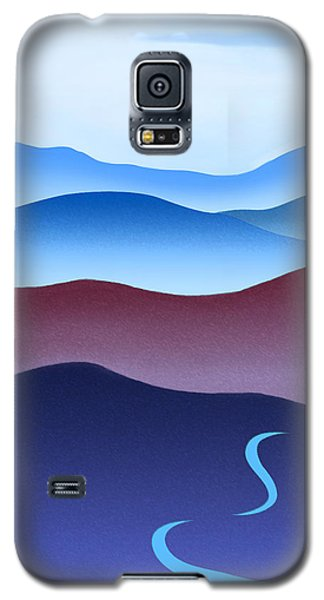 Blue Ridge Blue Road Galaxy S5 Case