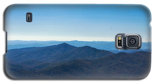 Galaxy S5 Case featuring the painting Blue Ridge Mountains by Debra Crank