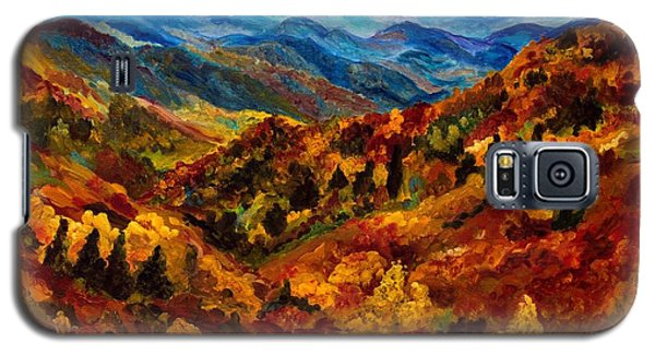 Blue Ridge Mountains In Fall II Galaxy S5 Case by Julie Brugh Riffey