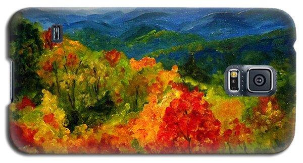 Blue Ridge Mountains In Fall Galaxy S5 Case by Julie Brugh Riffey
