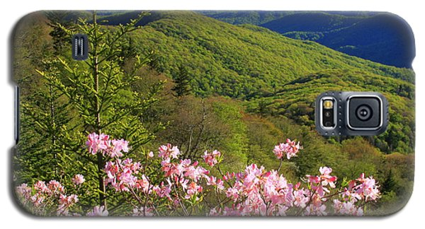 Galaxy S5 Case featuring the photograph Blue Ridge Parkway Rhododendron Bloom- North Carolina by Mountains to the Sea Photo