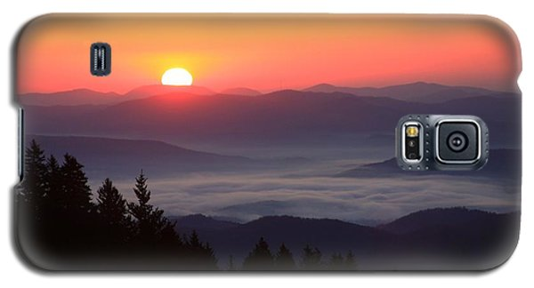 Galaxy S5 Case featuring the photograph Blue Ridge Parkway Sea Of Clouds by Mountains to the Sea Photo