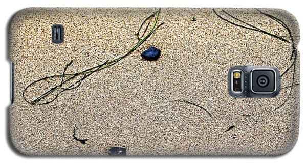 Galaxy S5 Case featuring the photograph Blue Rocks And Seagrass by Bob Wall