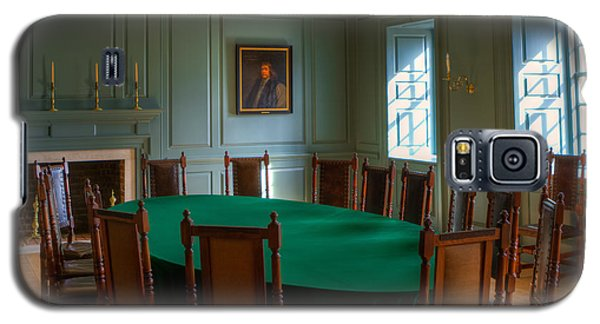 Galaxy S5 Case featuring the photograph Blue Room 2 Wren Building by Jerry Gammon