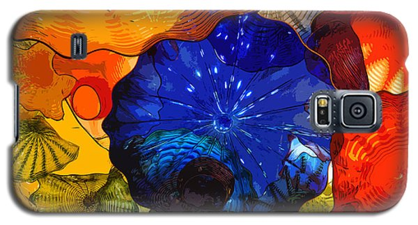 Galaxy S5 Case featuring the digital art Blue Rose by Kirt Tisdale