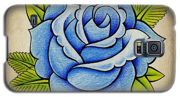 Blue Rose Galaxy S5 Case by Samuel Whitton